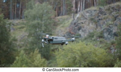 Small quadcopter flying in Slow motion - Small quadcopter...