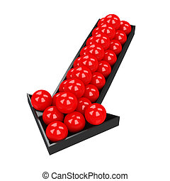 Small red balls
