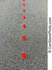 small red cones on the ace