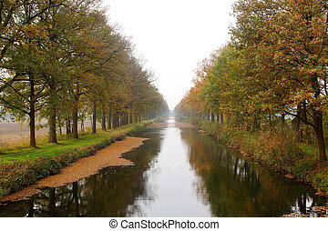 Small river in the autumn