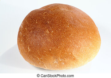 small roll pikelet on light background