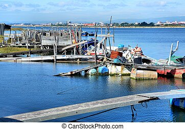 Small rudimentary harbor