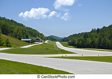 Small Runway in the Mountains
