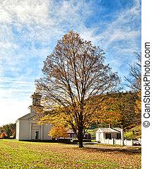 rural town in autumn