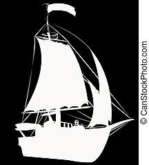 Small sailing ship
