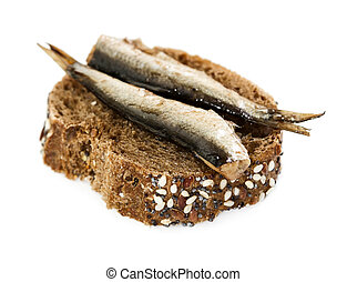 Small sandwich with sprats