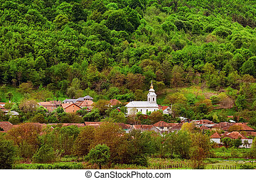 Small settlement in Romania