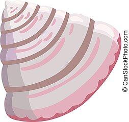 Small shell icon, cartoon style