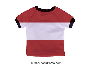 Small shirt with Austria flag isolated on white background
