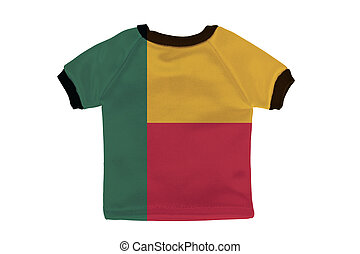Small shirt with Benin flag isolated on white background