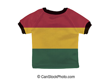 Small shirt with Bolivia flag isolated on white background