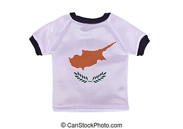 Small shirt with Cyprus flag isolated on white background