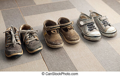small shoes on floor
