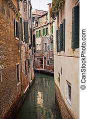 Small Side Canal Venice Italy