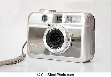 Small silver digital camera