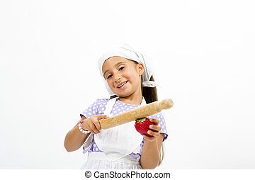 Small smiling chef