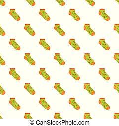 Small sock pattern seamless vector