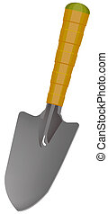 Small spade - The small one spade isolated. Illustration in...