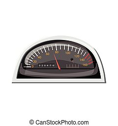 Small speedometer for car icon, cartoon style