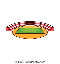 stadium icon. Small Sports Stadium Icon, Cartoon Style Icon