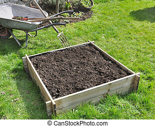 small square for vegetable garden