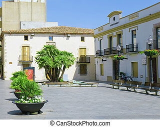 Small square in Calella. Spain. - Small square in the minor...
