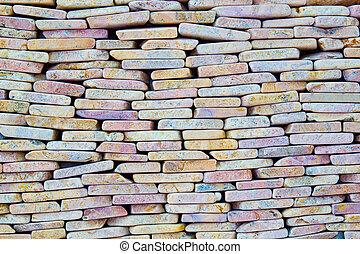 Small square stone background.