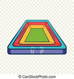 Small stadium icon, cartoon style