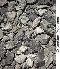 small stones and pebbles.