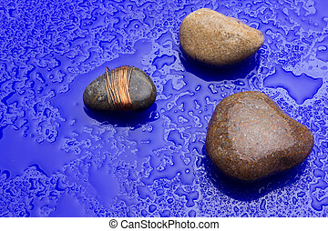 Small stones on background - Various minerals, stones ...