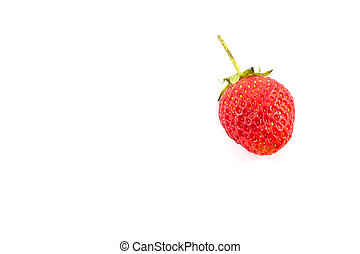 Small Strawberry on white