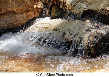 Small stream. Creek - Artificially created an oasis in the...