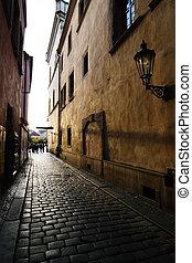 Small Street - A small street in Prague, Czech Republic.
