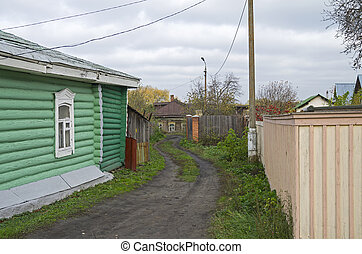 Small street in the historic part of Kolomna.