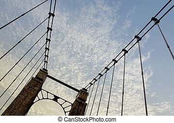 Small suspension bridge in France