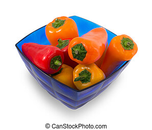 Small sweet colored peppers