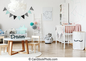 Small table in child room