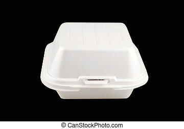 food container - small take-out food container isolated on a...