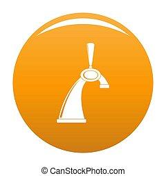 Small tap icon orange