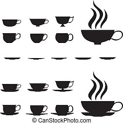 Small tea cups - The graceful silhouette of small tea cups