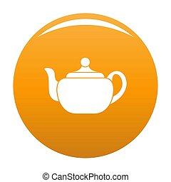 Small teapot icon orange