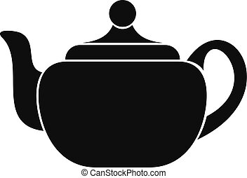 Small teapot icon, simple style