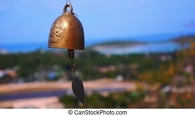 Small Thai Style Bell in Temple