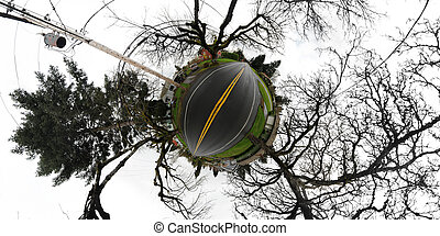 Small Tiny Planet with road