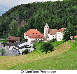 Small tirolean village in Alps