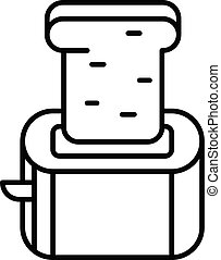 Small toaster icon, outline style