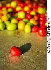 small tomato in fresh market