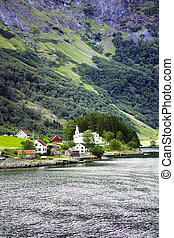 Small town in a Lysefjord