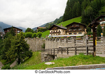 Small town in Alps