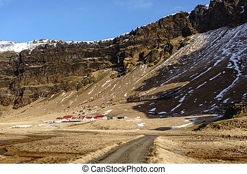 Small town in the South of Iceland